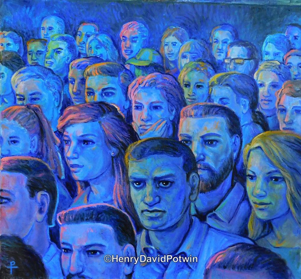 """Crowd  - 2017 20X22"""""""