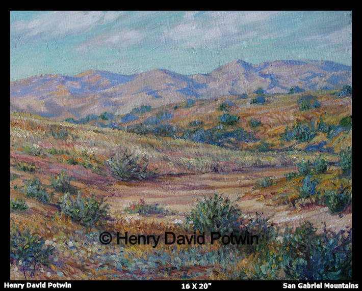 San Gabriel Mountains  - 2007 16X20""