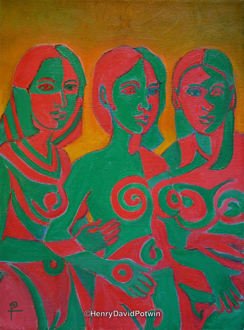 "3 X Women - 2013 12X9"""