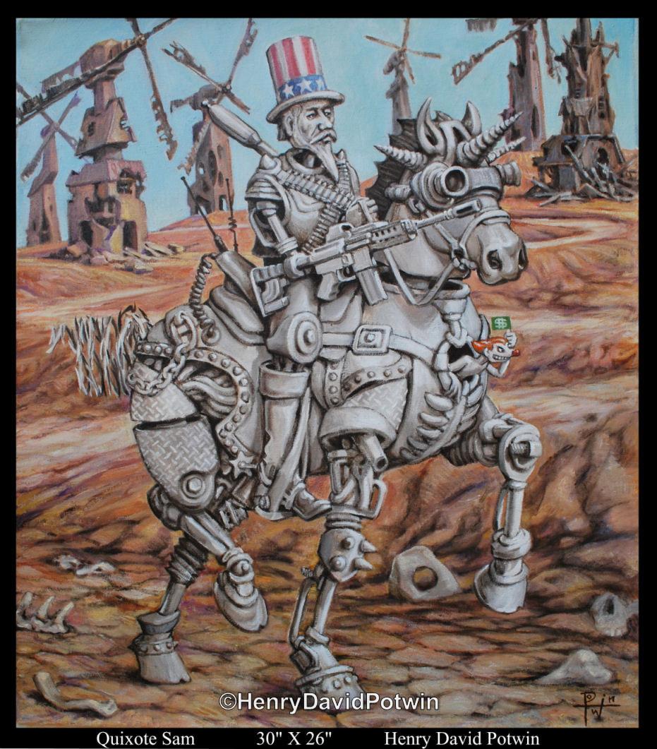 """Quixote Sam  - 2010 26X30"""""""