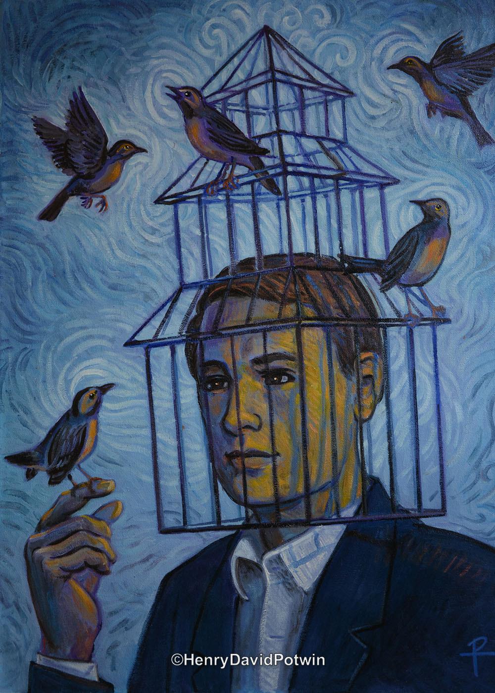 """Bird Cage - 2015 22X16"""""""