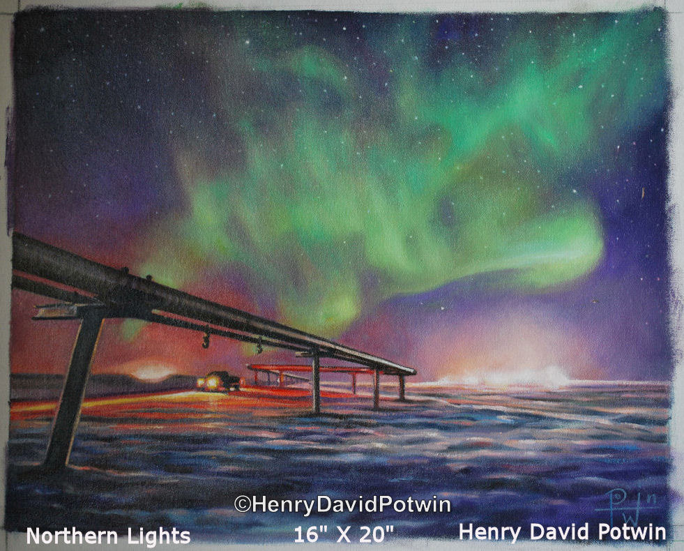 Northern Lights   - 2010 16X20""