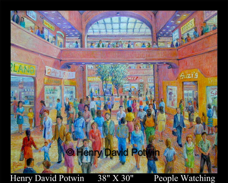 People Watching  - 2002 38X30""