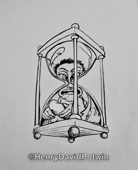 Untitled (Figure in Hourglass )