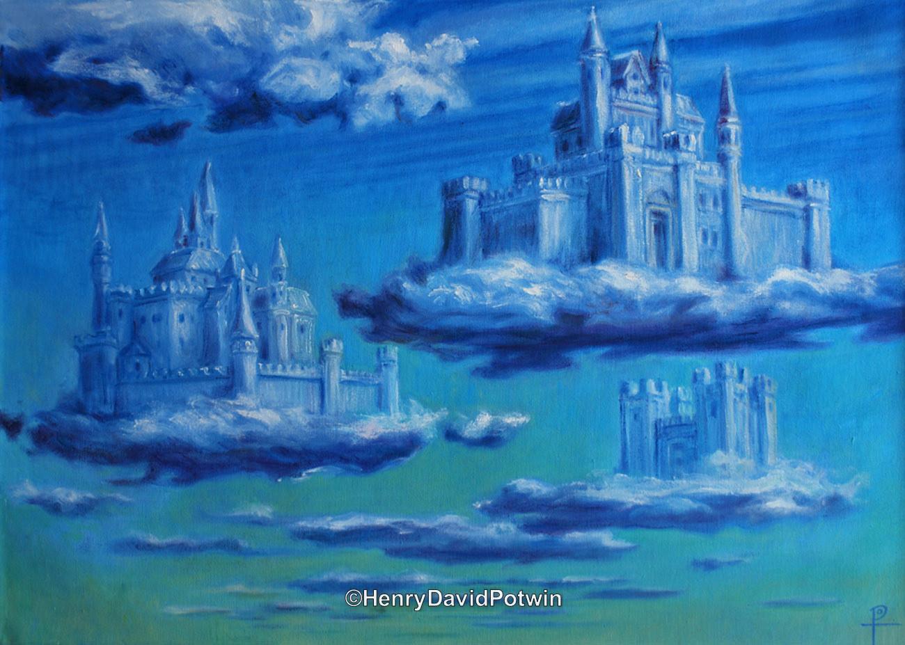 "Sky Castles - 2013 28X20"""