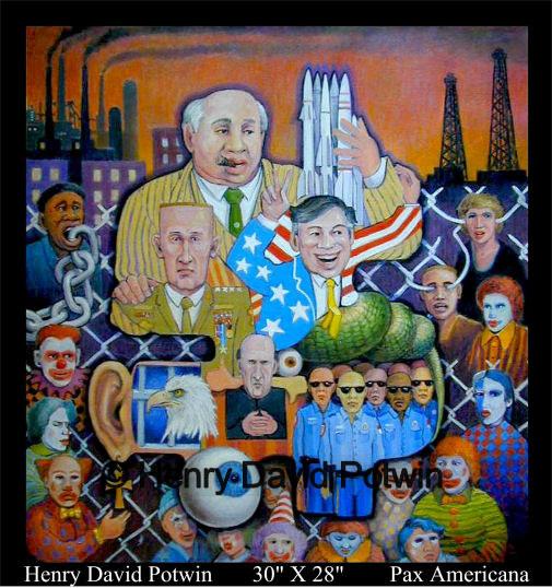 """Pax Americana  - 2004 30X28"""""""