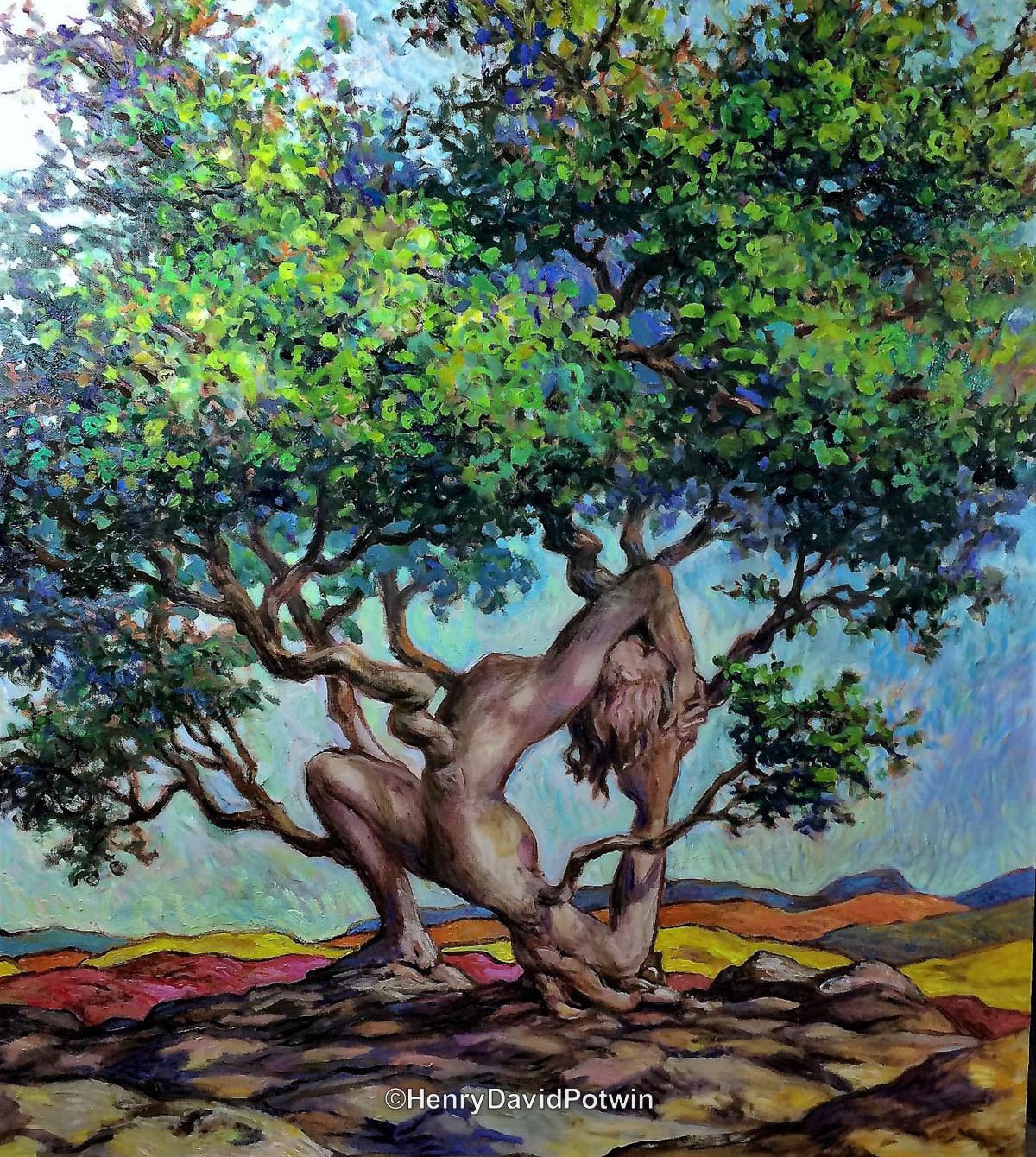 """Asana Tree - 2018 38X32"""""""