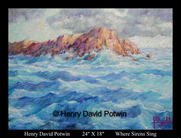 "Where Sirens Sing  - 1990's 24X18"""