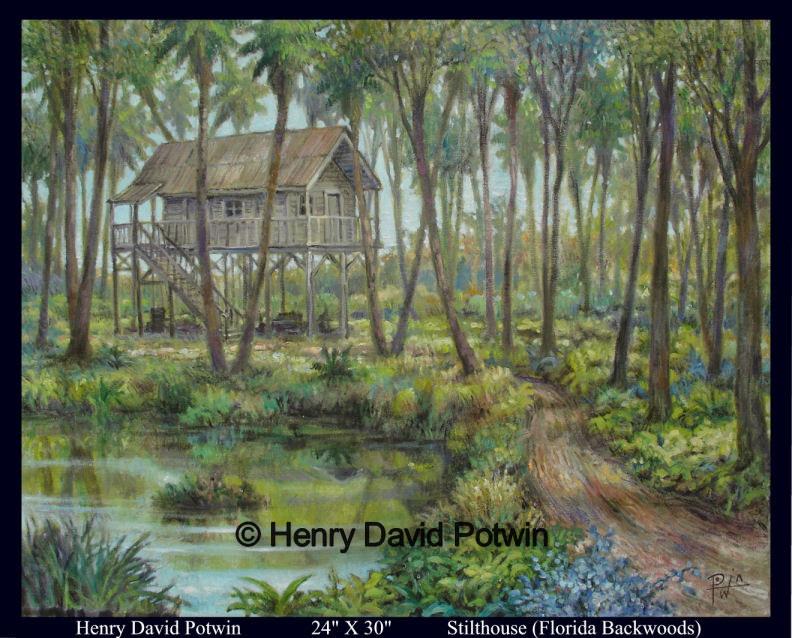 "Stilthouse (Florida Backwoods)  - 2007 24X30"""