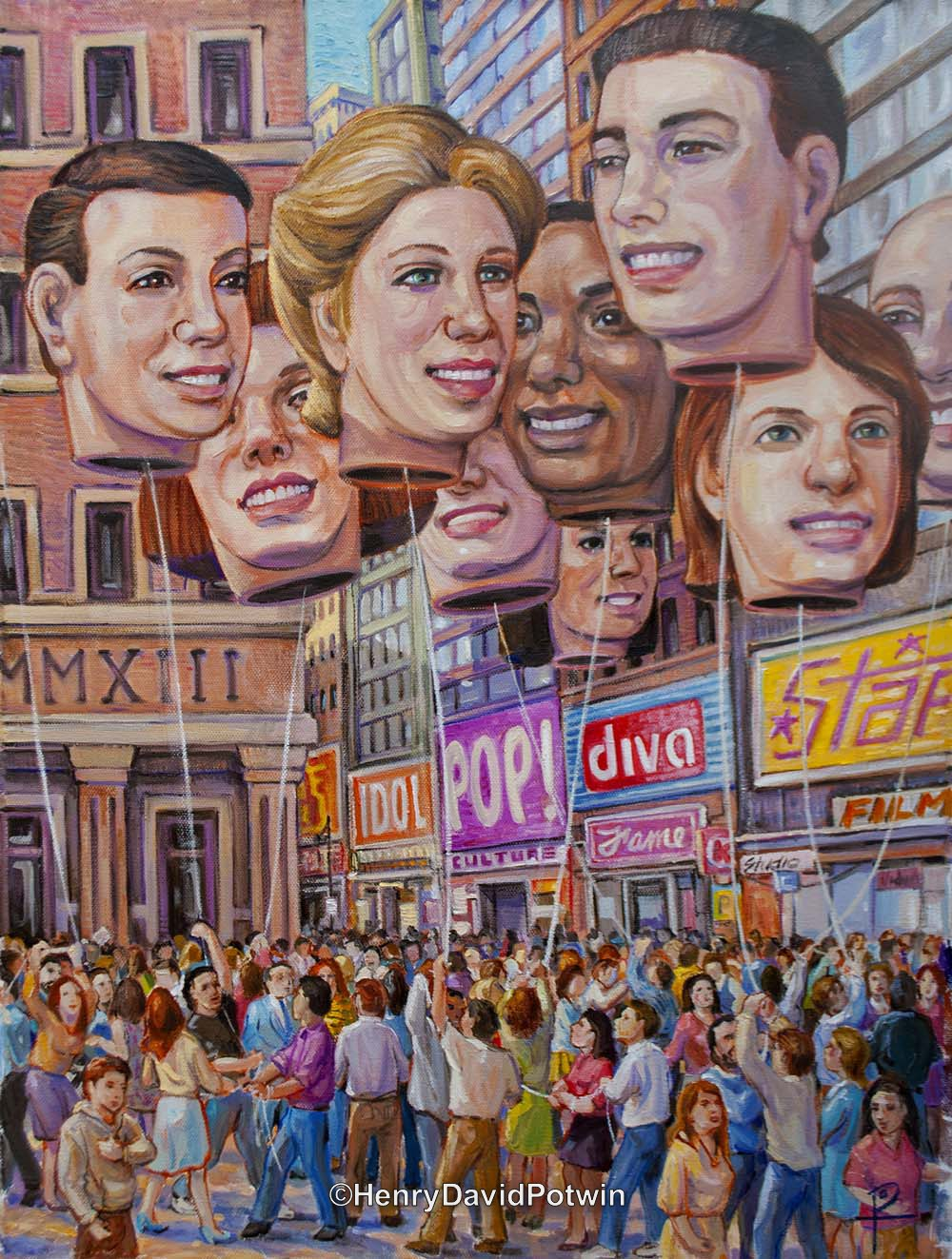 "Big Heads - 2013 24X18"""