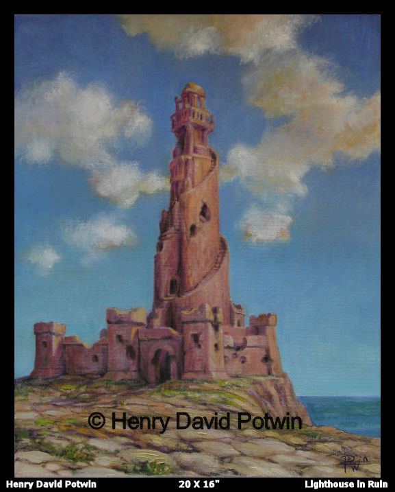 Lighthouse in Ruin  - 2006 20X16""
