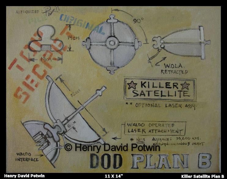 """Killer Satellite - 2007 11X14"""""""