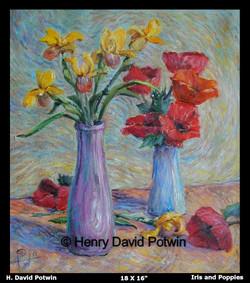 1997 Iris and Poppies