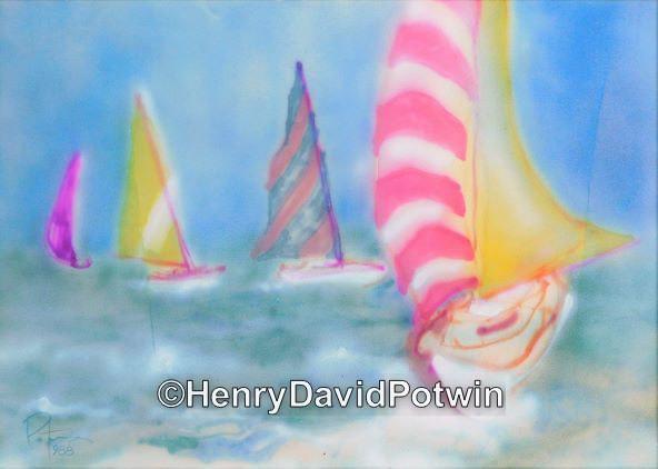 """Sailing -  20X28"""""""