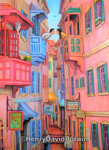 The Alley of the Kiss  - 2000-2001 28X38""