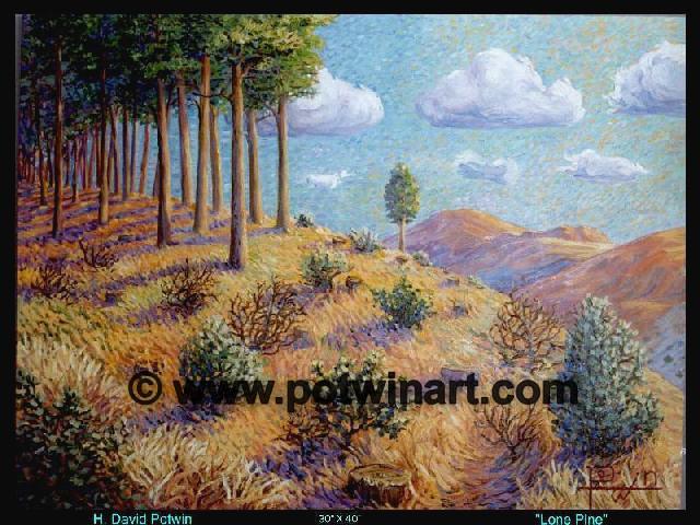 "Lone Pine  - 1990's 40X30"""