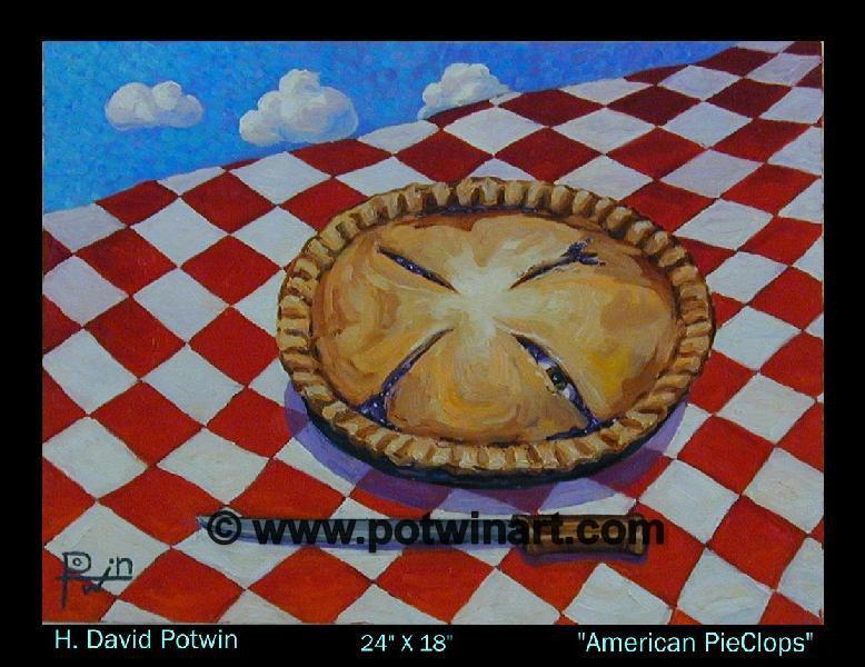 """American Pieclops  - 1990's 24X18"""""""