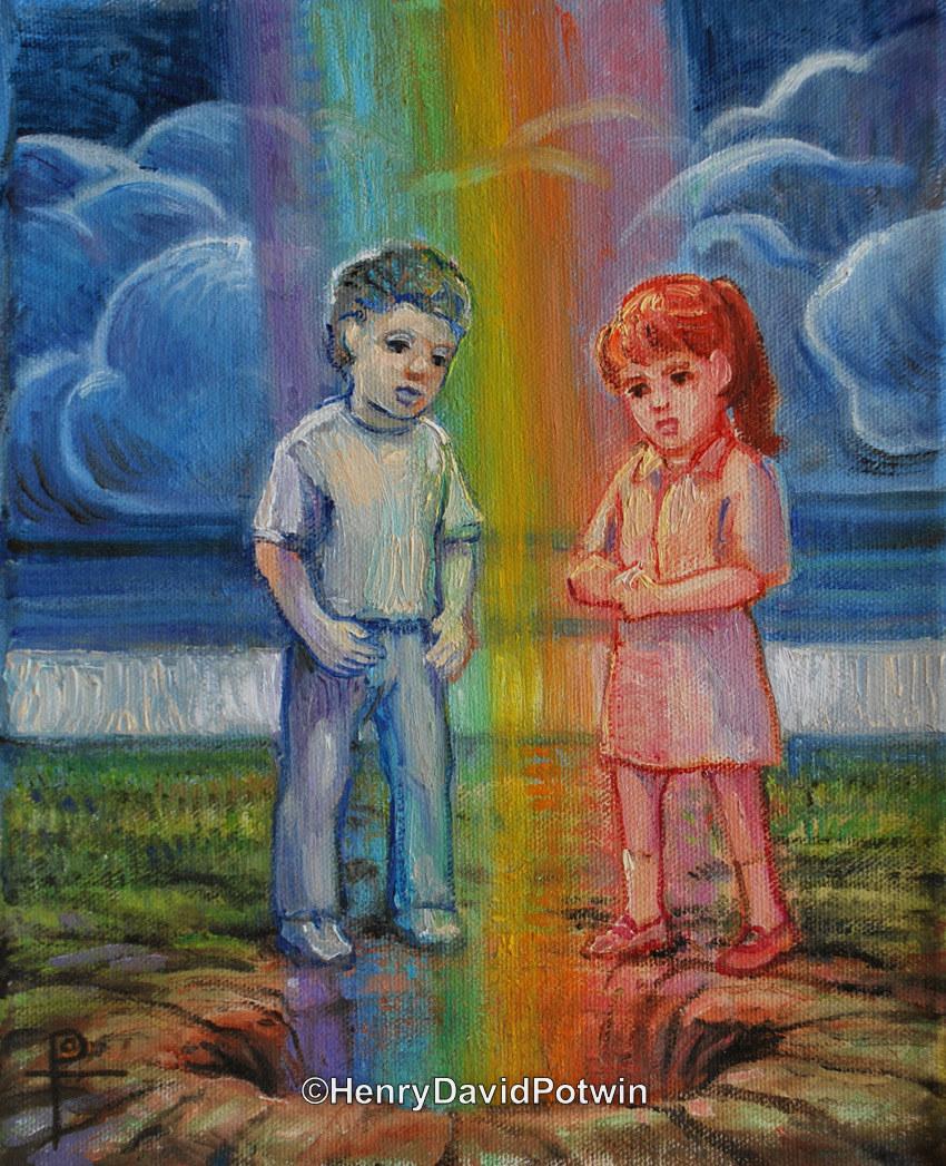"Rainbow Kids - 2013 10X8"""