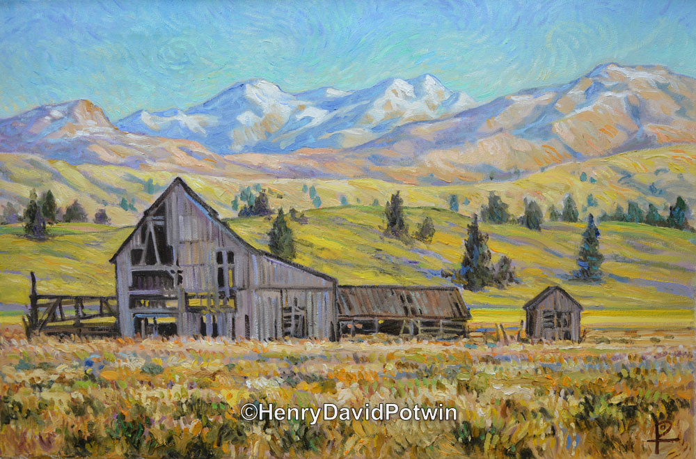 Barn in the Meadow Montana