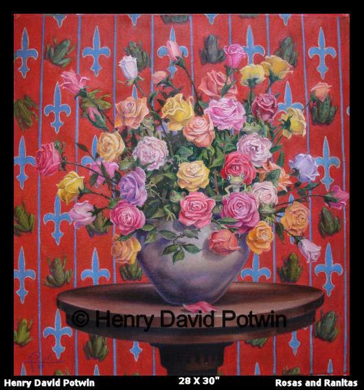 """Rosas & Ranitas  - 2006 28X30"""""""