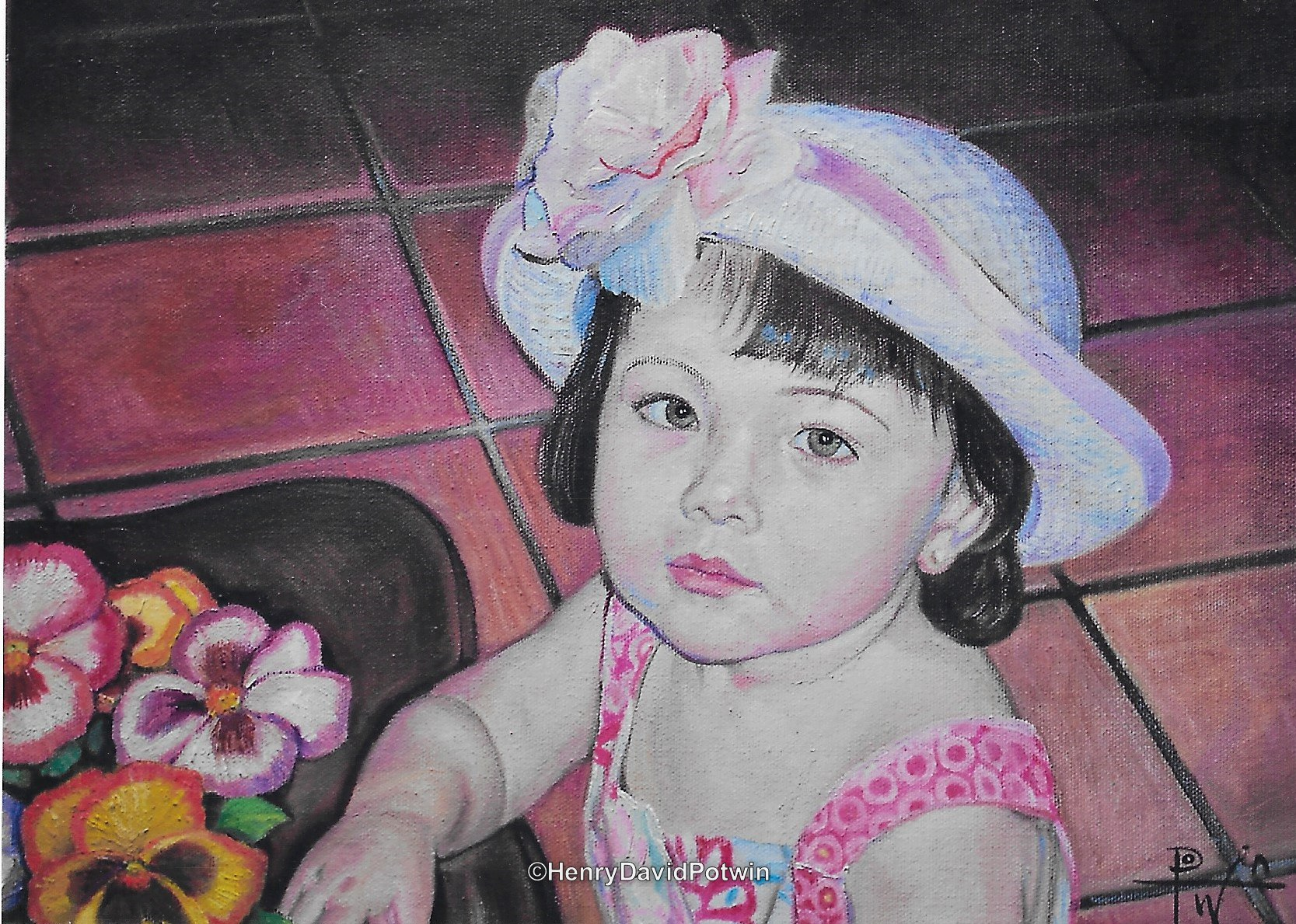 Portrait of a child - 2007 12X16""