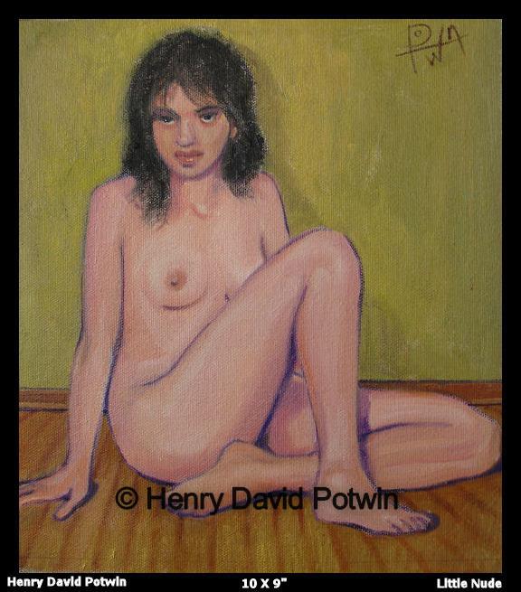 "Little Nude  - 2006 10X9"""