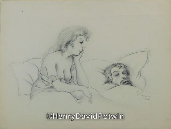 Untitled (Pencil on Paper) - 1970-80 12X16""