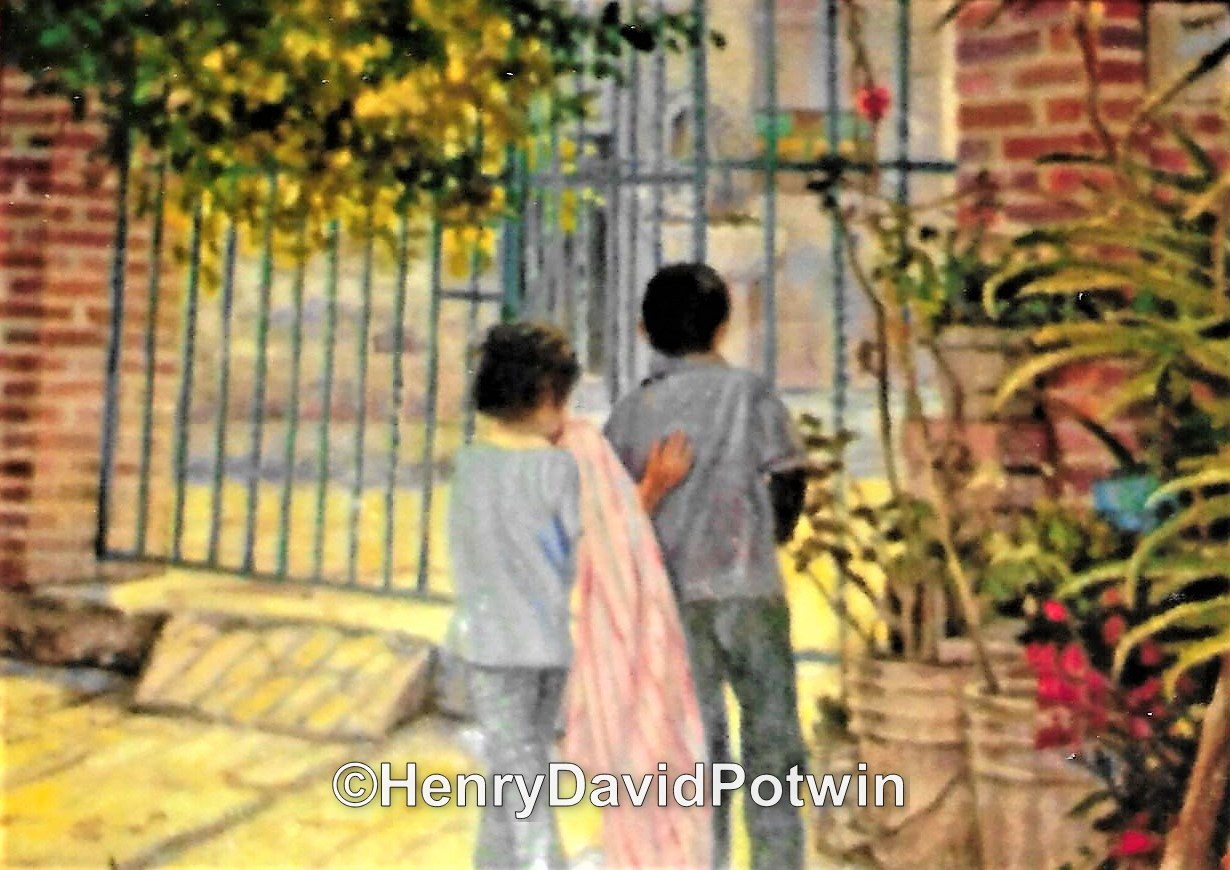 Children in the Garden - 2014 18X24""