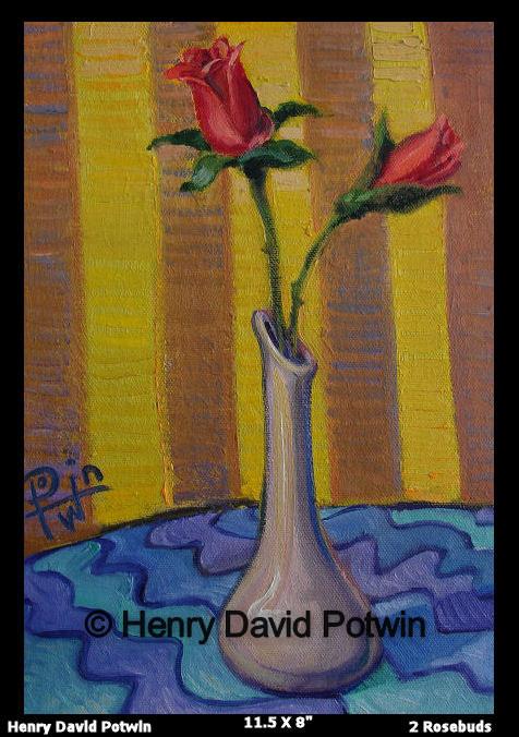 """2 Rosebuds - 2006 12X8"""""""