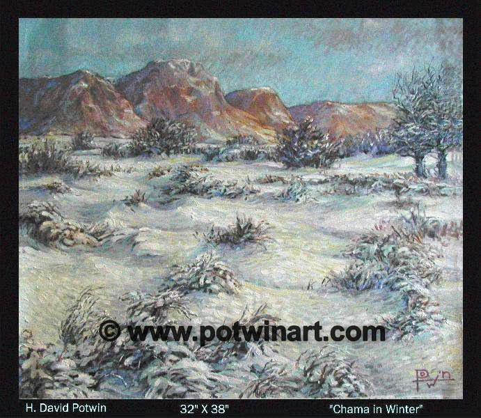 Chama in Winter  - 1990's 32X28""