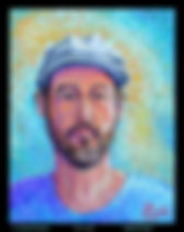 Henry David Potwin Self Portrai ith Blue Ha