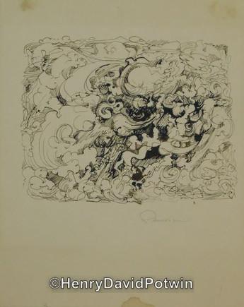 "Untitled (Clouds) - 1970-80 10X8"""