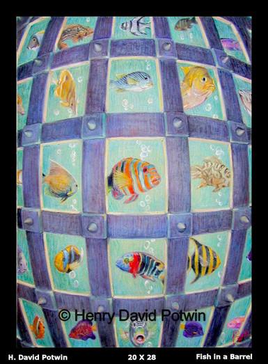 "Fish in A Barrel  - 1990's 20X28"""