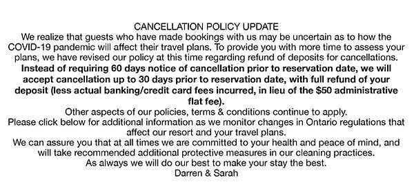 SB COVID 19 cancellation policy message