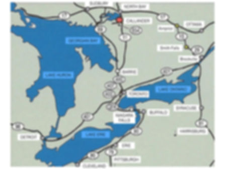 Toronto to Callander directions