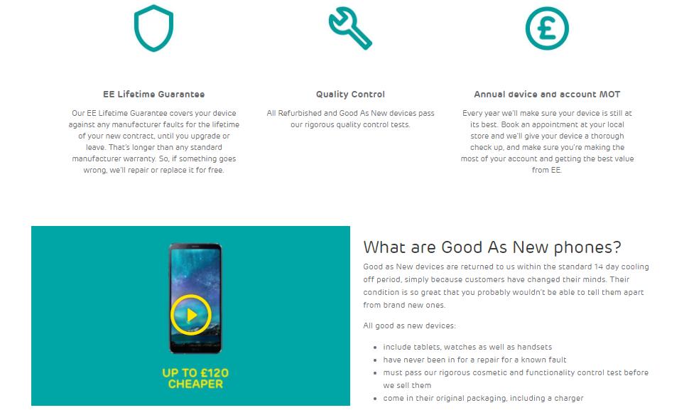 EE Good as New Phones