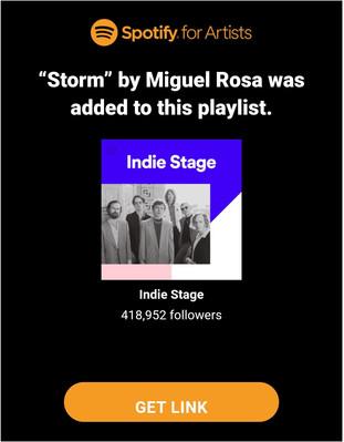 Miguel entrou em uma playlist editorial