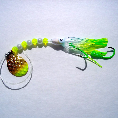 Clear & Lime UV Spinner 1 3/4 Inch