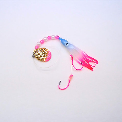 UV Pearl Blue & Pink Spinner 1 3/4 Inch