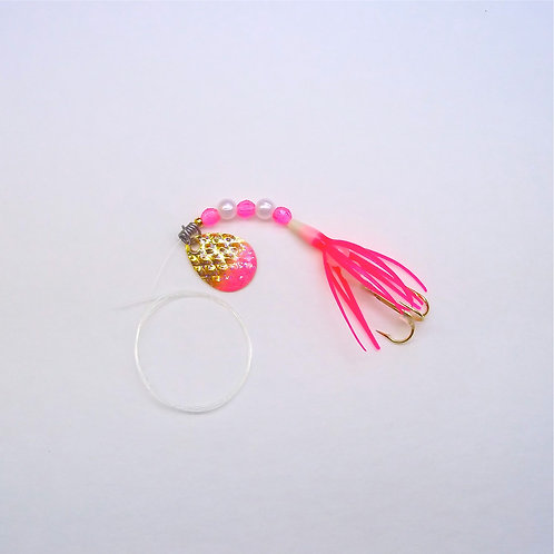 """Solid Pink Super Micro Spinner 1 3/8"""""""