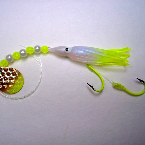 UV Pearl & Chartreuse Spinner 1 3/4 Inch