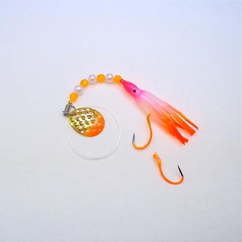 UV Pearl Pink & Orange Spinner 1 3/4 Inch