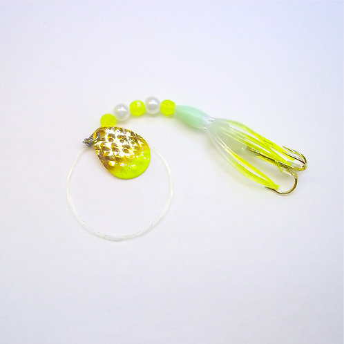UV Clear & Chartreuse Super Micro Spinner 1 3/8""