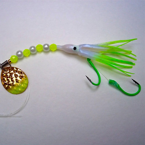 UV Pearl & Lime Spinner 1 3/4 Inch