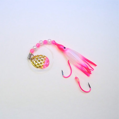 UV Pearl Pink & Pink Spinner 1 3/4 Inch