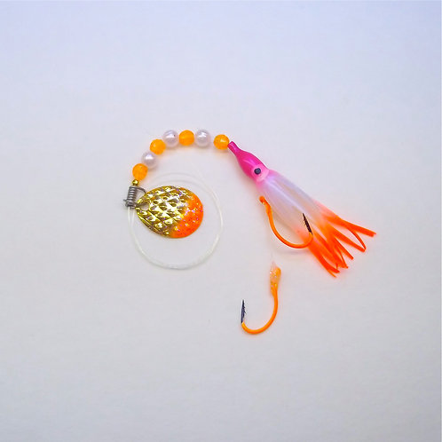 UV Pearl Purple & Orange Spinner 1 3/4 Inch