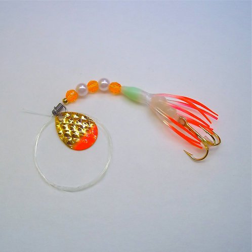 "UV Clear & Orange Super Micro Spinner 1 3/8"""