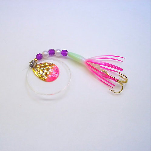 UV Pearl & Purple Super Micro Spinner 1 3/8""