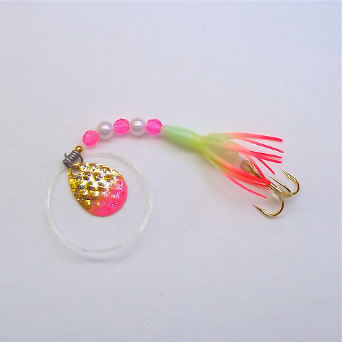 Glow & Pink Super Micro Spinner 1 3/8""