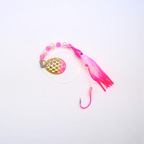 UV Pearl Purple & Pink Spinner 1 3/4 Inch